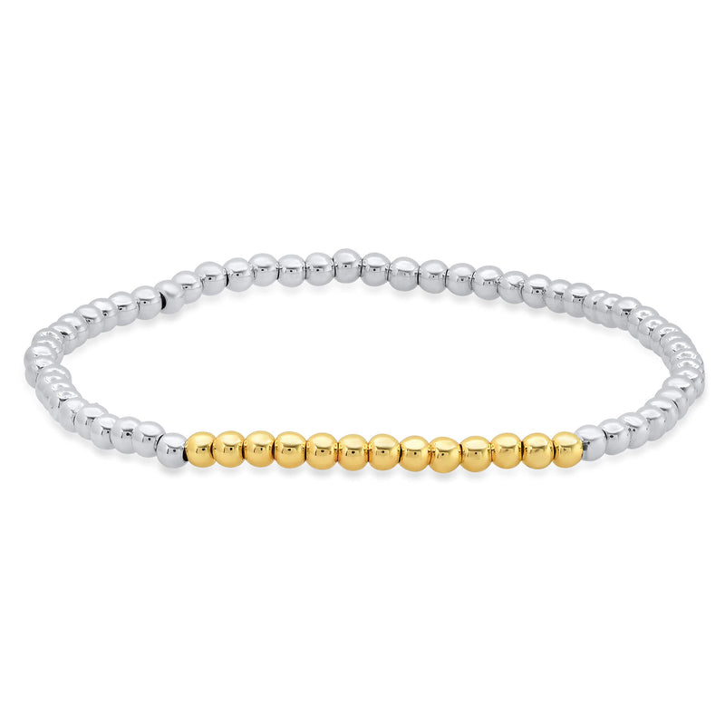 STRETCH BRACELET, SILVER & GOLD