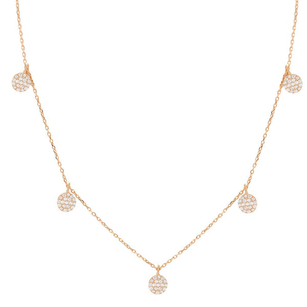 TINY DISC DANGLE NECKLACE, ROSE GOLD.jpg