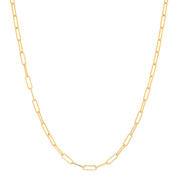 THIN PAPER CLIP CHAIN, GOLD