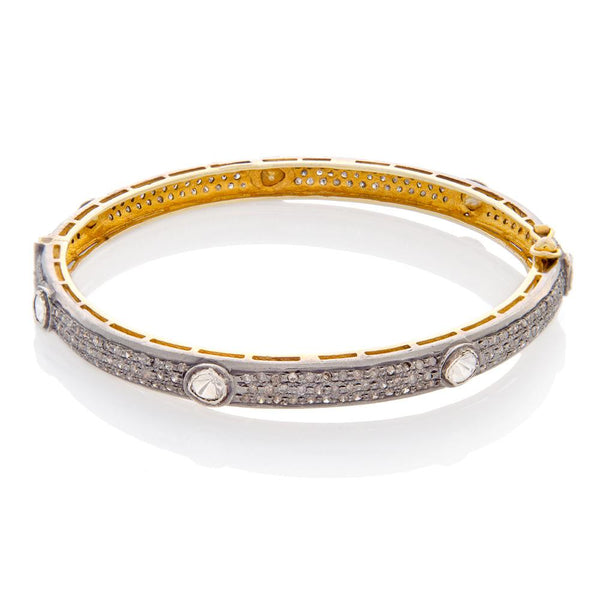 Thin Rose Cut Diamond Bracelet.jpg