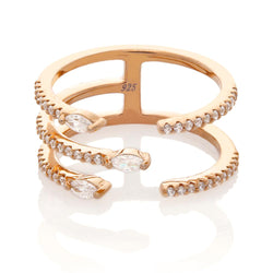 Three Row Ring, Rose Gold.jpg