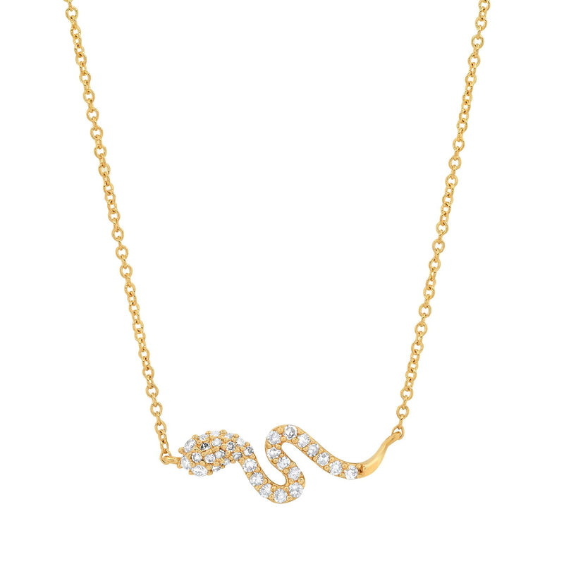 TINY SNAKE NECKLACE, GOLD