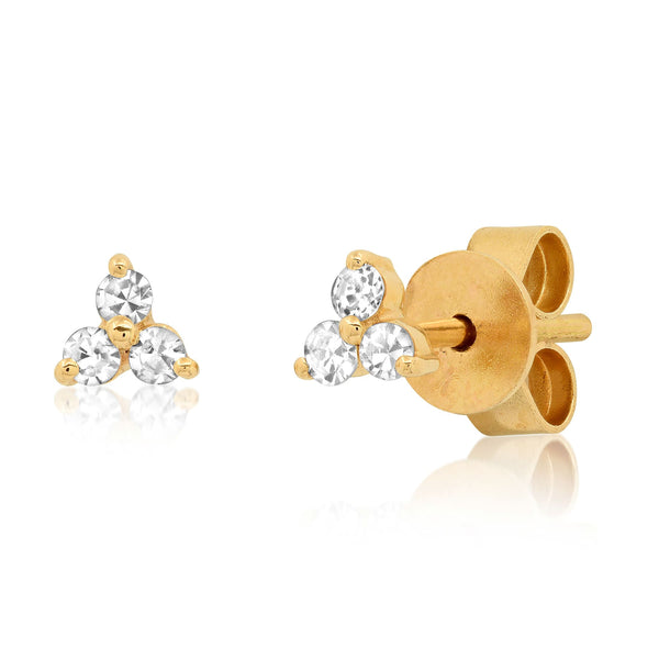 TRIO DIAMOND STUDS, GOLD