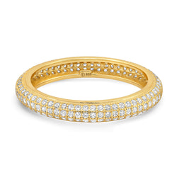 TRIPLE ROW PAVE ETERNITY RING, GOLD