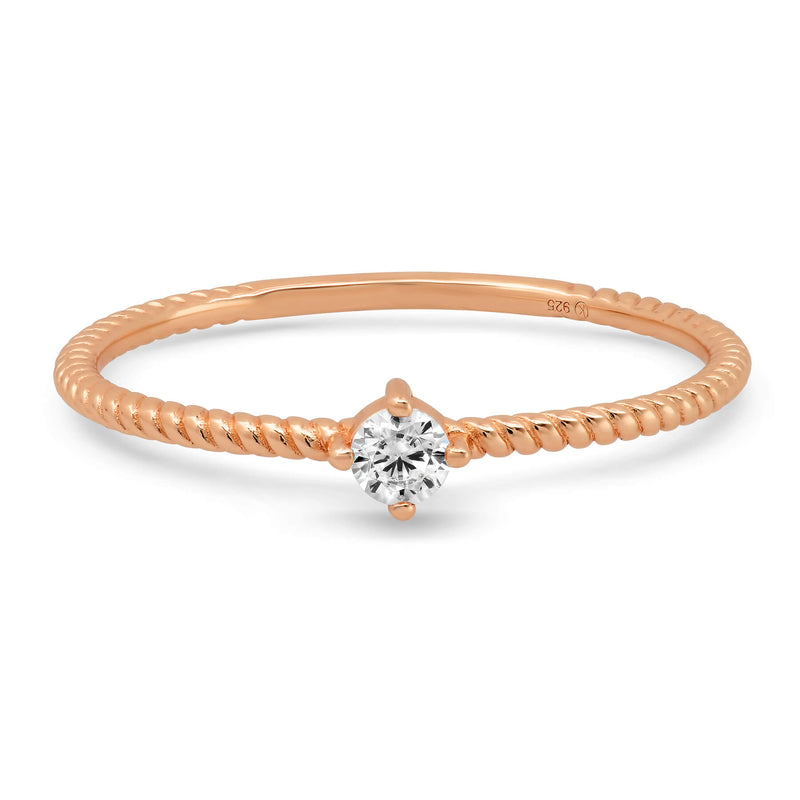 TWIST RING, ROSE GOLD