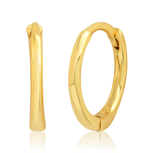 SMALL SOLID HOOPS, GOLD