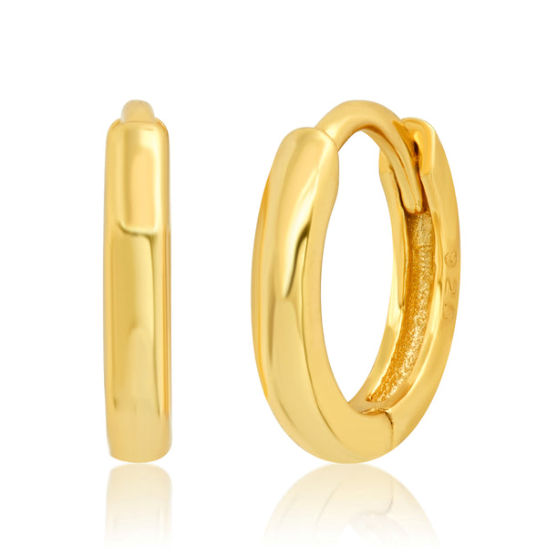 EXTRA SMALL SOLID HOOPS, GOLD