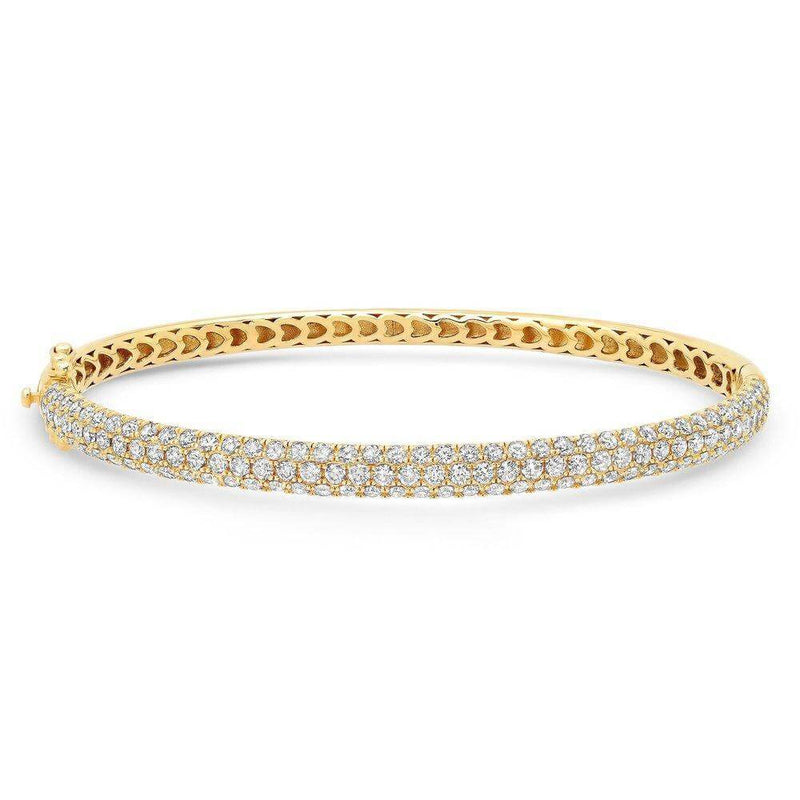 DIAMOND ENCRUSTED BANGLE, GOLD
