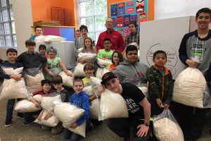 Pillows for the Fred Hutch Cancer Research Center School!