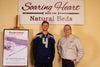 Seattle Seahawks Kicker, Steven Hauschka, Visits Soaring Heart Natural Beds