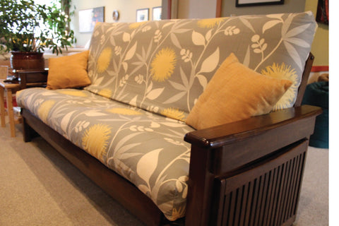 Organic futon covers and organic pillow covers
