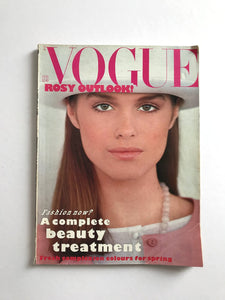 Vogue Magazine UK, Feb 1983 with article on Frank Auerbach - RARE
