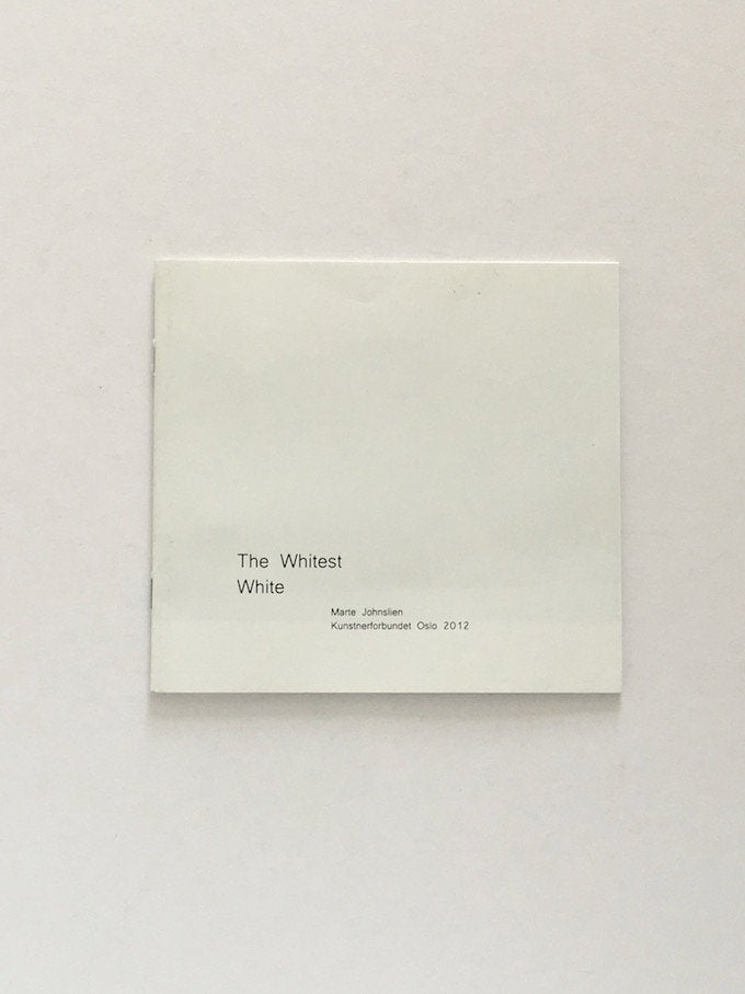 Marte Johnslien - The Whitest White
