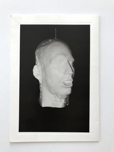 Card from Bruce Nauman exhibition 'Shadow Puppet Spinning Head' at Galerie Hauser & Wirth, Zurich