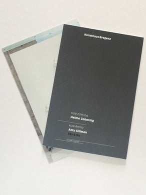 Card and exhibition catalogue from Heimo Zobernig and  Amy Sillman at Kunsthaus Bregenz, 2015