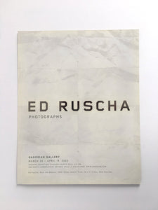 Ed Ruscha Invitation card  'Photographs' exhibition at Gagosian Gallery, Beverly Hills. RARE