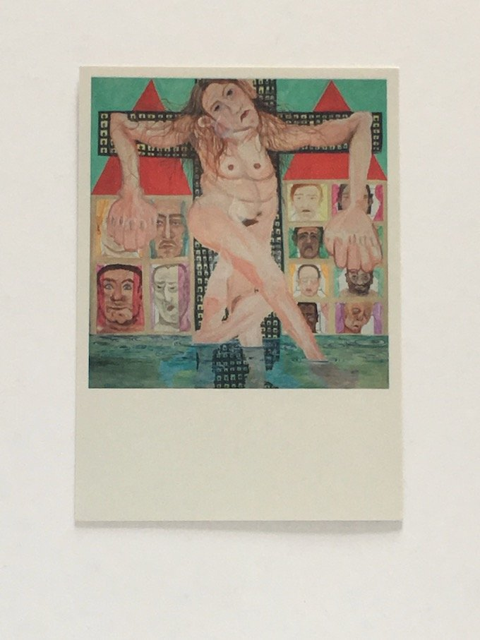 Jana Euler - 'Female Jesus Crying in Public' - Post card