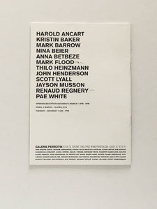 Group show at Gallery Perrotin, Paris 2013 - Exhibition catalogue