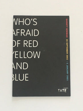 Barnett Newman at Tate Modern 2002 - Exhibition catalogue