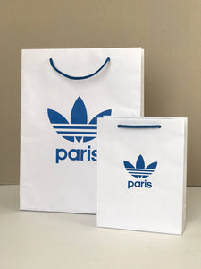 Adidas Originals bags - 2 limited edition paper shop bags from Adidas shop in Paris