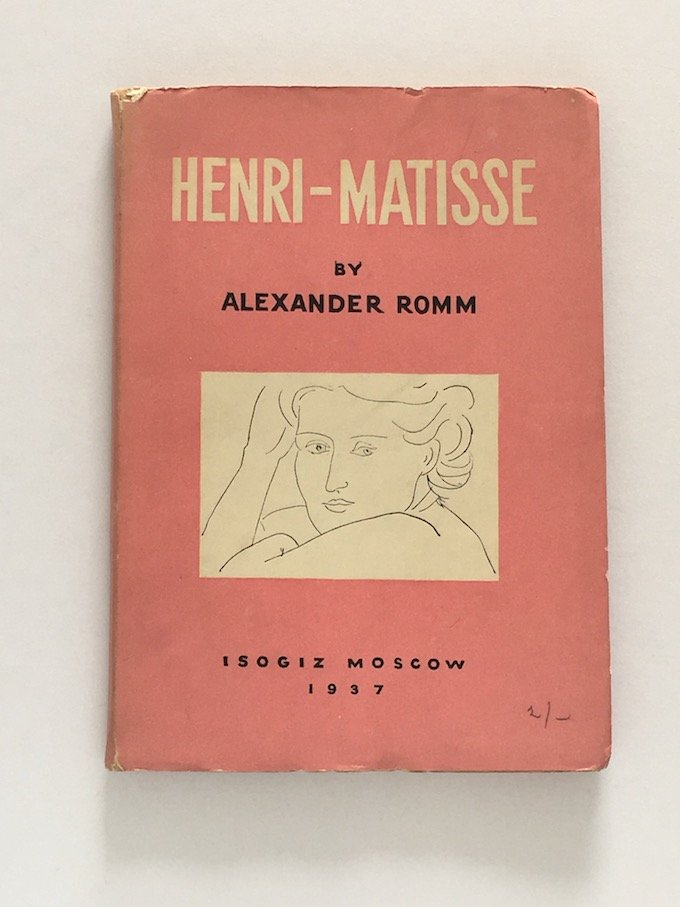 Henri Matisse by Alexander Room. Published in Russia 1937