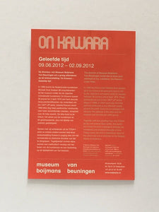 On Kawara at Museum Boijmans Van Beuningen, Rotterdam 2012 - Exhibition announcement card