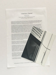 Adam McEwen exhibition at Capitain Petzel, Berlin, 2014 - Card and press release