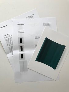 Florian Pumhosl at Galeri Buchholtz, Berlin - Invitaiton card, press release and list of works from