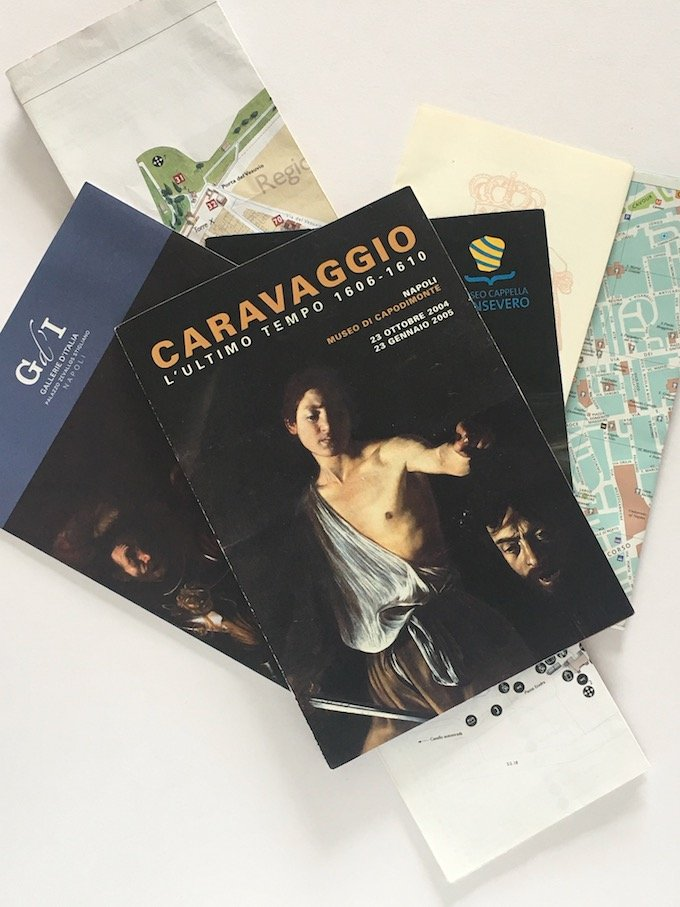 Napoli Bonanza! Collection of maps and art brochures from Naples.
