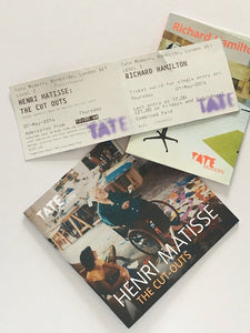 Matisse and Richard Hamilton at the Tate Modern 2014. Exhibition catalogues and tickets