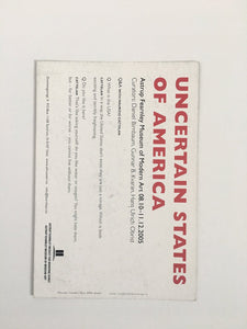 Card from group show 'Uncertain States of America' at Astrup Fearnley Museum, Oslo