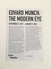 Load image into Gallery viewer, Edvard Munch: 'The Modern Eye' at the Pompidou Centre, Paris - Exhibition guide