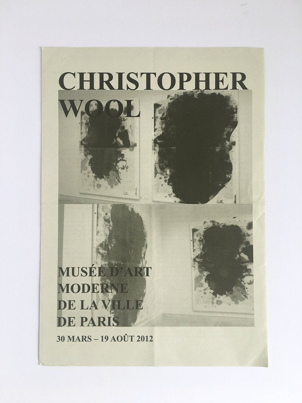 Christopher Wool at La Musée d'Art Moderne de la Ville de Paris - Catalogue