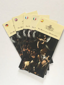 Brochures from the church Pio Mont Della Misericordia, Naples with The Works of Mercy by Caravaggio