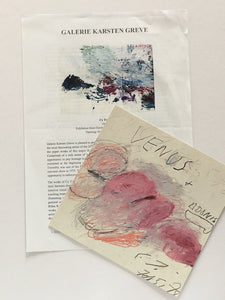 Press release and card from Cy Twombly exhibition at Karsten Greve Gallery, Paris, 2013