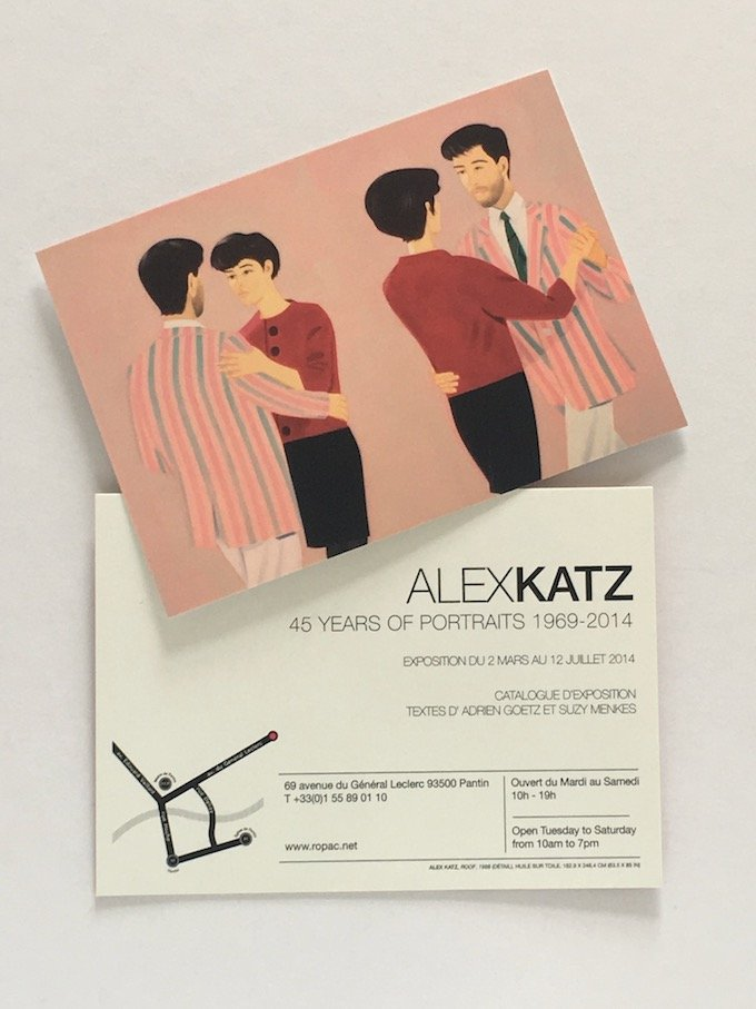 Alex Katz - 45 years of Portraits - Invitation Card. Galerie Rupac, Paris