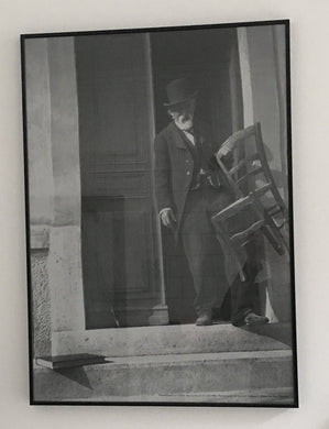 Black and white photograph of Paul Cezanne - Poster - Rare