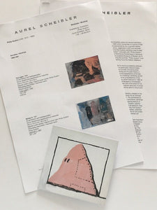 Philip Guston at Aurel Scheibler, Berlin, 2014. Card, press release and list of works