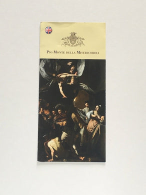 Brochure in German from the church Pio Mont Della Misericordia, Naples showing The Works of Mercy by Caravaggio