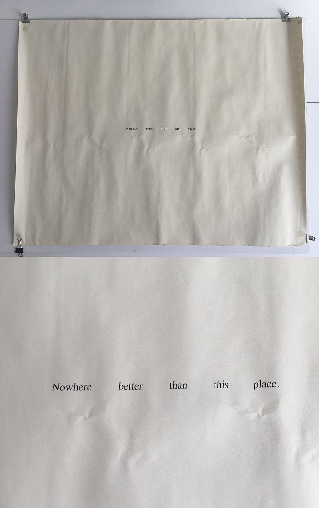 Felix Gonzalez Torres - 'Nowhere Better Than This Place' - Rare Poster