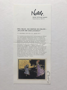 Emile Nolde - Card from exhibition at Berlin Dependance