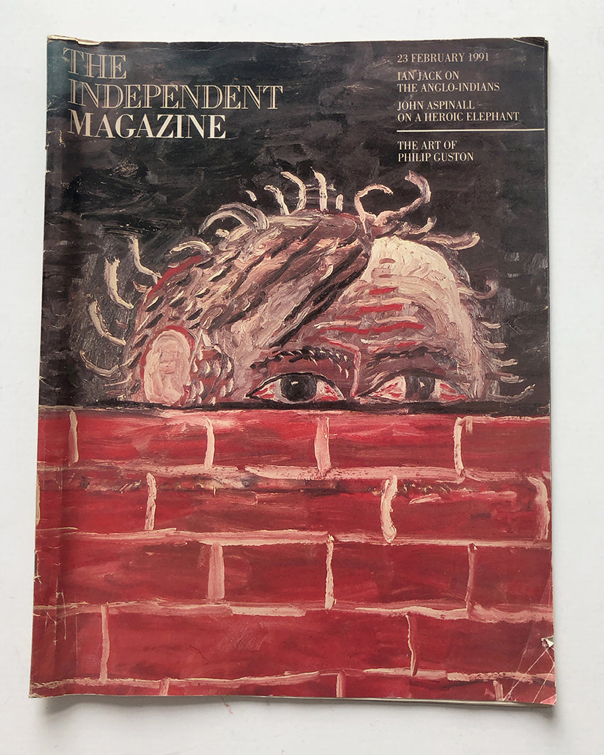 Philip Guston - Copy of the Independent Magazine 23rd Feb 1991 with article on Philip Guston