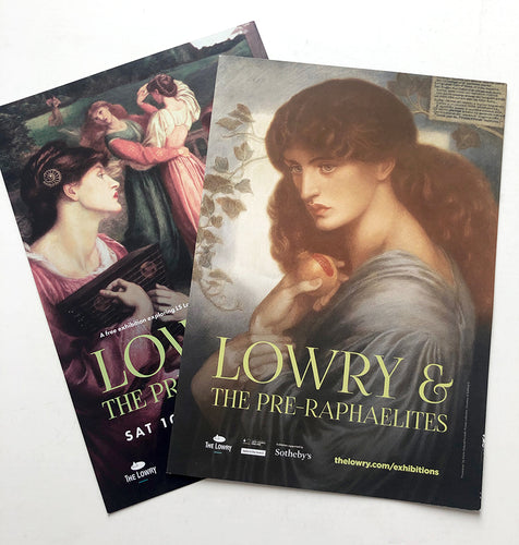 LS Lowry - Card and exhibtion guide to 'Lowry and the Pre-Raphaelites' at The Lowry