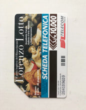 Load image into Gallery viewer, Lorenzo Lotto - Italian Telecom card printed with Lotto image. 1998