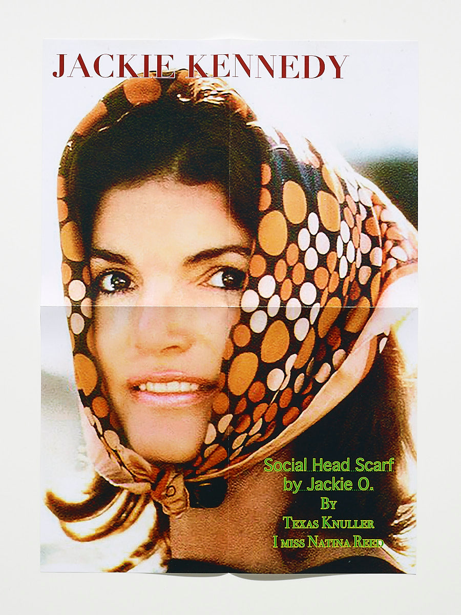 Poster Social Head Scarf by Jackie O. By Texas Knuller