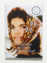 Load image into Gallery viewer, sadZine#6  Social Head Scarf by Jackie O. By  Texas Knuller