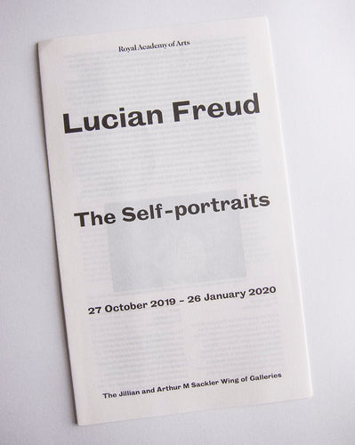 Lucian Freud - Exhibition catalogue from 'The Self-Portraits' at the Royal Academy, London 2019