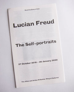 Lucian Freud - Exhibition catalogue. entry ticket and receipt from 'The Self-Portraits' at the Royal Academy, London 2019