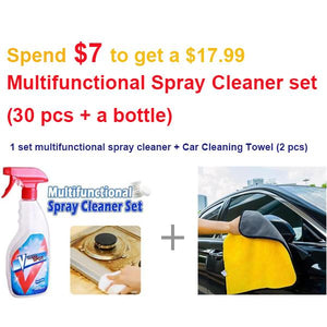 Super Absorbent Car Cleaning Towel(2PCS/Set)-Home & Garden-airvog.com-YELLOW-Large Towel(2 pcs)+ 1 Set Spray Cleaner(30 pcs with bottle)-airvog