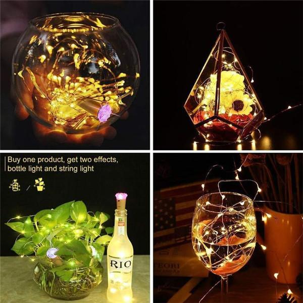 DIY Bottle Lights Artwork Unique Handcrafts-Home & Garden-airvog.com-YELLOW-airvog